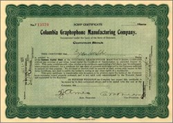 Columbia Graphophone Manufacturing Company - 1921