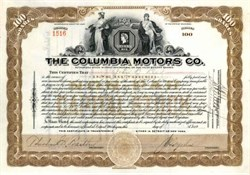 Columbia Motors Co. 1924 - Michigan