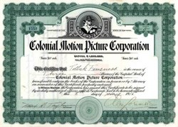Colonial Motion Picture Corporation (Silent Movies) - New York 1916