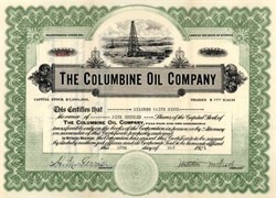 Columbine Oil Company 1921