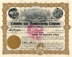Columbia Star Manufacturing Company 1901 - Washington