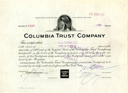Columbia Trust Company 1920's ( Bank of New York )