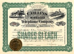 Collins Wireless Telephone Company - Wireless Telephone Scam in 1909