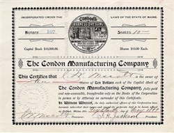 Condon Manufacturing Company (Harness Dressing)   - Belfast, Maine 1899