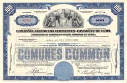Camaguey Sugar Company of Cuba - Pre Castro Revolution American Sugar Company -  Havana, Cuba