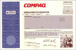 Compaq Computer Corporation - (Pre Hewlett - Packard Acquisition)