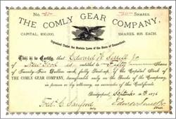 Comly Gear Company 1876
