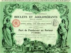 Compagnie Generale Boulets Et Agglomerants 1912