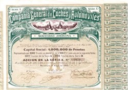 Compania General de Coches y Automoviles 1910