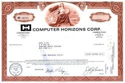 Computer Horizons Corporation 1986