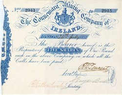 Connemara Mining Company of Ireland - 1852