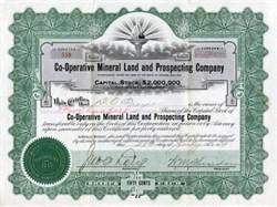 Co-Operative Mineral Land and Prospecting Company - Arizona 1913