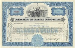Commercial Instrument Corporation 1930