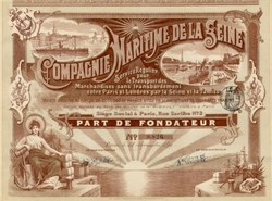 Maritime Company of the Seine River - France 1899