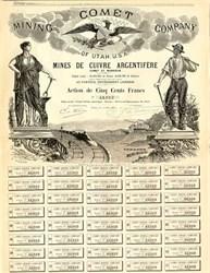 Comet Mining Company of Utah - 1883
