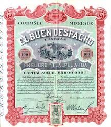 Compania Minerade El Buen Despacho 1919 - Mexico