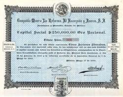 Compania Minera La Reforma, El Escorpion Y Anexas, S.A. Mexico 1919