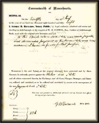Commonwealth of Massachusetts Attleborough Bank 1850's - Dunning Notice