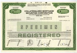 Collateralized Mortgage Securities Corporation owned by Credit Suisse First Boston Management -  (Sub Prime CMO's were at the center of the collapse of the housing market and the financial system in 2008) - 1988