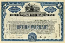 Commonwealth & Southern Corporation 1934 (Southern Company )