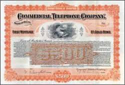 Commercial Telephone Company Gold Bond 1901 - Texas