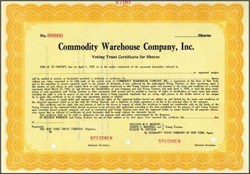 Commodity Warehouse Company, Inc.