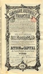 Compagnie Nationale Financiere - Belgium 1901