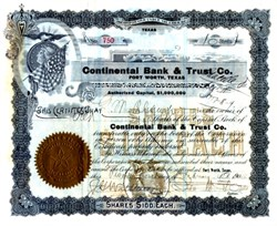 Continental Bank & Trust Company 1904 - Fort Worth, Texas