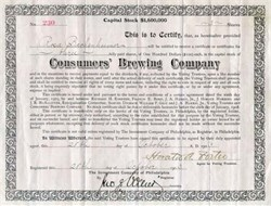 Consumers Brewing Company 1903