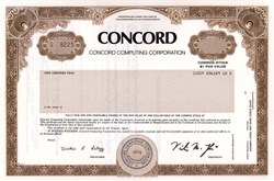 Concord Computing ( Now Concord EFS and First Data Corp ) - Massachusettes