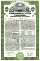 Consolidated Edison of New York $1,000 Bond - 1947