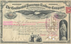 Continental Passenger Railway Company of Philadelphia - 1880's