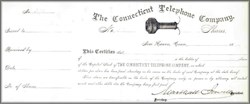Connecticut Telephone Company 1881 - Early AT&T Company