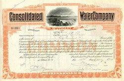 Consolidated Water Company of Utica New York 1920's