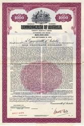 Commonwealth of Australia $1000 Specimen Bond - 1959