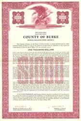 County of Burke School Building Bond - North Carolina 1955