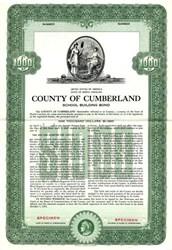 County of Cumberland School Building Bond - North Carolina  1952