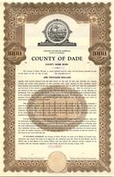 County of Dade County Home Bond - Florida 1946