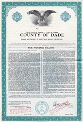 County of Dade Port Authority Revenue Bond - Florida 1972