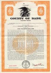 County of Dade Highway Bond - Florida 1960