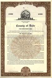 County of Dade Park Improvement Bond - Florida 1949