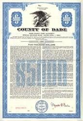 County of Dade Port Authority Special Revenue Bond - Florida 1962