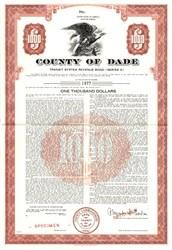 County of Dade -Transit System Revenue Bond - Florida 1961
