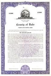 County of Dade Tuberculosis Hospital Bond - Florida 1946