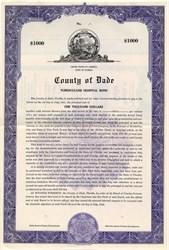 County of Dade, Tuberculosis Hospital Bond - Miami, Florida 1946