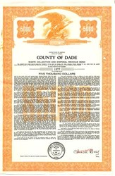 County of Dade-Waste Collection and Disposal Revenue Bond - Florida 1967