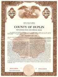 County of Duplin Refunding School Bond - North Carolina 1955
