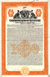 Commonwealth of Kentucky Bridge Revenue Refunding Bond - Kentucky 1936