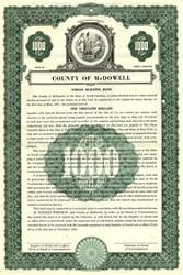 County of McDowell School Building Bond - North Carolina 1950