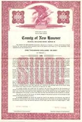 County of New Hanover Community College Bond - North Carolina 1958
